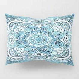 Aqua Turquoise Mandala Pillow Sham