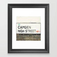 Camden High Street Sign Framed Art Print