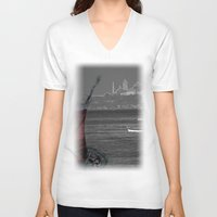 istanbul V-neck T-shirts featuring istanbul by Cenk Cansever