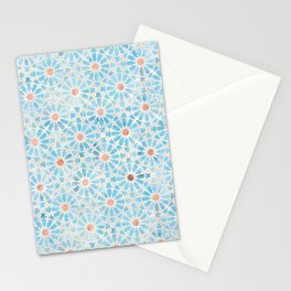 Hara Tiles Light Blue Stationery Cards