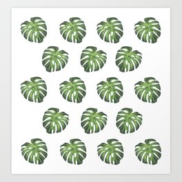Green summer leaf of plantain pattern Art Print