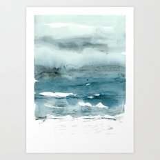 dissolving blues Art Print
