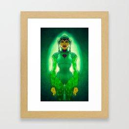 green girl3 Framed Art Print
