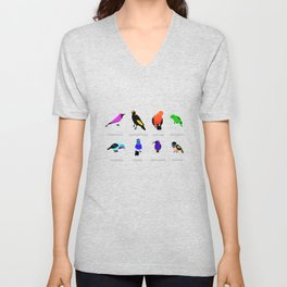 Birds react to the state of the world Unisex V-Neck