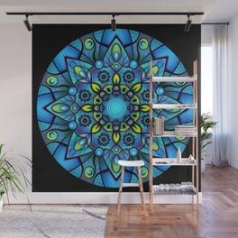 Vivid Blues Mandala Wall Mural