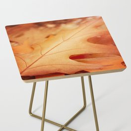 AFE Autumn Leaves, Nature Photography Side Table