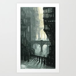 City of Bridges Art Print