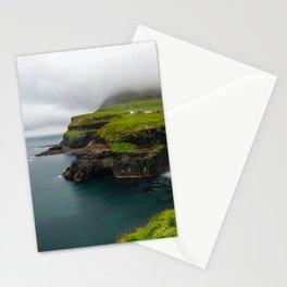 Gásadalur waterfall in Faroe islands Stationery Cards