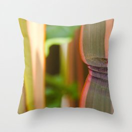 Pleated leaves  Throw Pillow