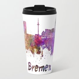 Bremen skyline in watercolor Travel Mug