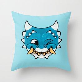 Chipper Dragon Throw Pillow