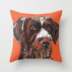 Hunting dog, printed from an original painting by Jiri Bures Throw Pillow