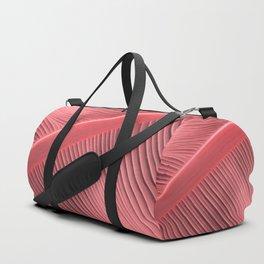 """Pastel Pink Big Leaf"" Duffle Bag"