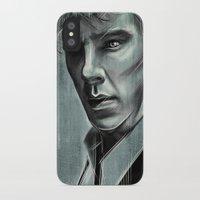 benedict cumberbatch iPhone & iPod Cases featuring Benedict Cumberbatch by Schwebewesen • Romina Lutz