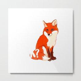 I Just Really Like Foxes OK - Funny Fox T-shirt women kids Metal Print
