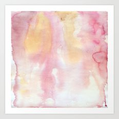 Pink and Orange Watercolor Wash Art Print
