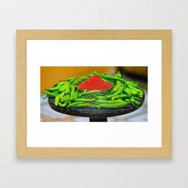 Chili Drops Framed Art Print