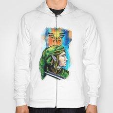 Link from the Legend of Zelda Painting. The Proud Hyrulian Warrior. Hoody