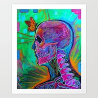 psychology Art Prints featuring Reverse Psychology by RandyConnerPaintings