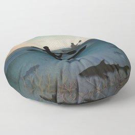 Sea Kayaking Floor Pillow