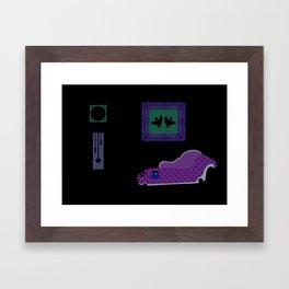 Pigeons in the House Framed Art Print