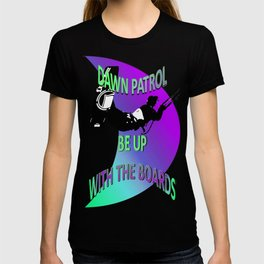 Dawn Patrol - Ultraviolet Be Up With The Boards Kitesurf T-shirt