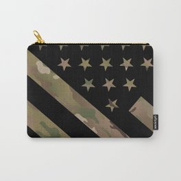 U.S. Flag: Military Camouflage Carry-All Pouch