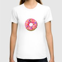 donut T-shirts featuring Donut by Matheus Lopes