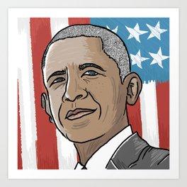 Barry O Art Print