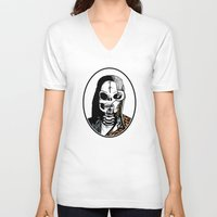 kurt cobain V-neck T-shirts featuring Skull Cobain by zombieCraig by zombieCraig