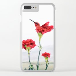 Carnation (r)evolution Clear iPhone Case