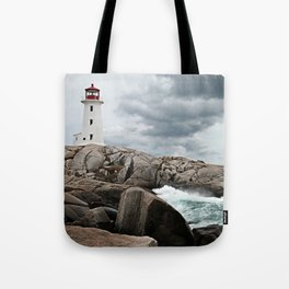 Peggy's Cove Light House -- Nova Scotia Tote Bag