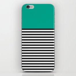 STRIPE COLORBLOCK {EMERALD GREEN} iPhone Skin