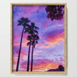 PS Sunset and Bouganvilla Serving Tray