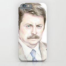 Swanson Watercolor Ron Slim Case iPhone 6