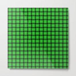 Small Lime Green Weave Metal Print