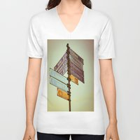 finland V-neck T-shirts featuring Oh, Suomi (Finland) by Kim Ramage
