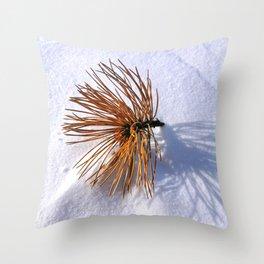 Pine Needles on Fresh Snow 2 Throw Pillow