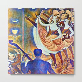 Georges Seurat Can Can Metal Print