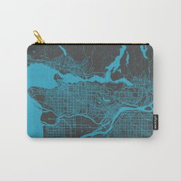 Vancouver Map blue Carry-All Pouch