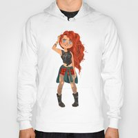 pixar Hoodies featuring Modern AU: Merida by Anoosha Syed