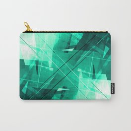 Mint Maze - Geometric Abstract Art Carry-All Pouch