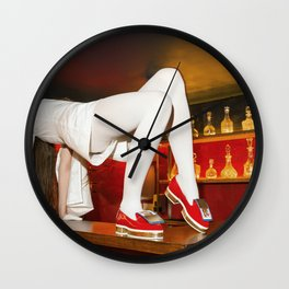 The queen is thirsty. Really, really thirsty Wall Clock