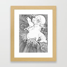 Deer Trauma Framed Art Print