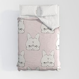 Frenchie Cringe Face Comforters