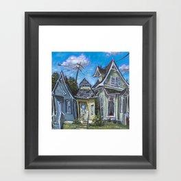 Three Houses Framed Art Print