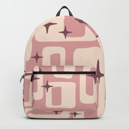Retro Mid Century Modern Abstract Pattern 576 Dusty Rose Backpack