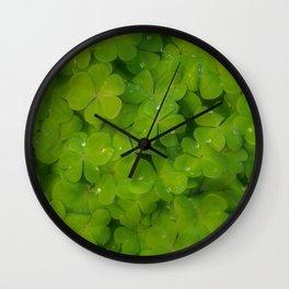 Oxalis leaves natural random pattern Wall Clock