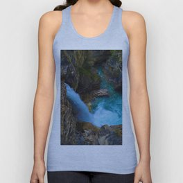 Stanley Waterfall & Beauty Creek in Jasper National Park, Canada Unisex Tank Top