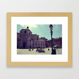 Lazy Venice Framed Art Print